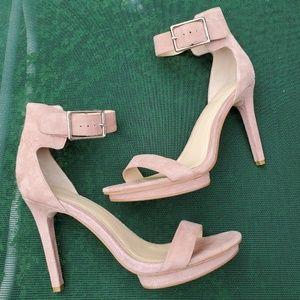 Calvin Klein Blush Suede Stilettos